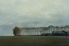 Haarlemmermeer I - 1976, olieverf op paneel, 55 x 75 cm.